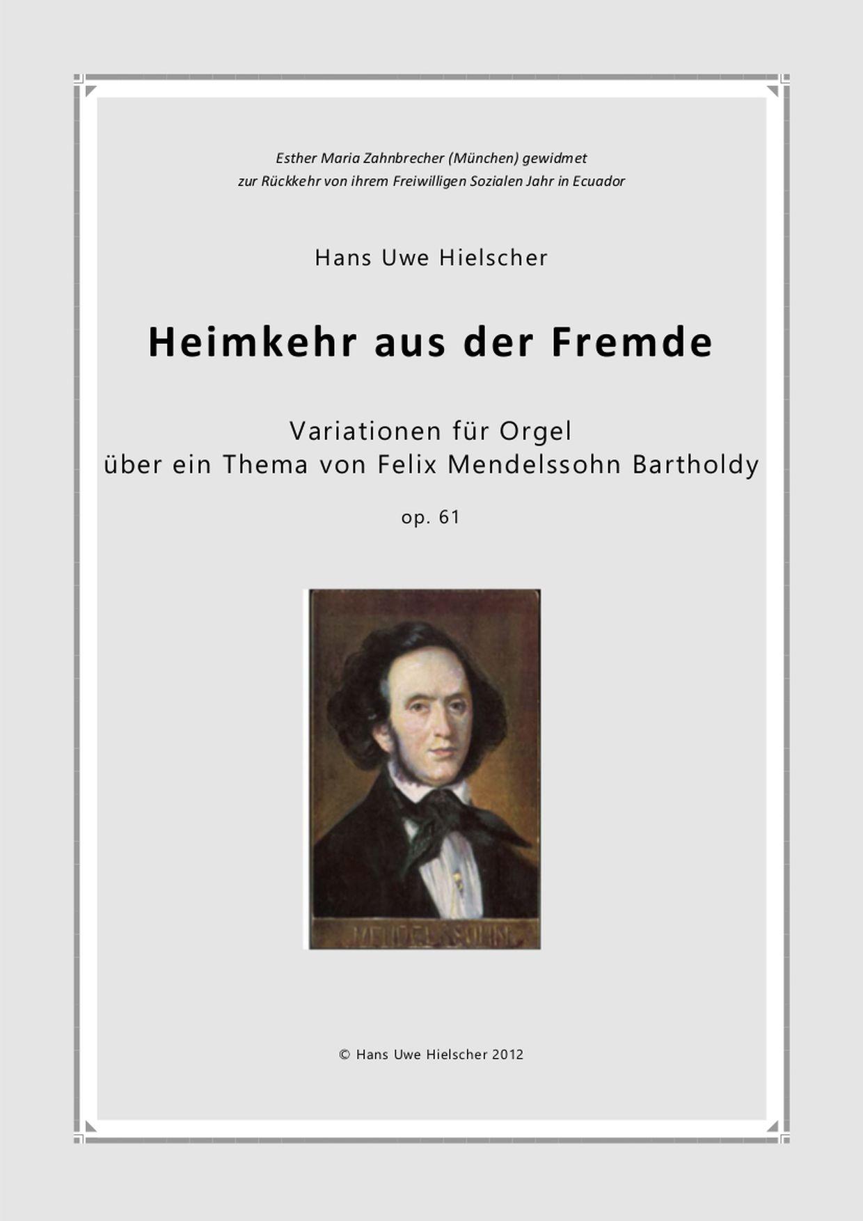 variationen über ein Thema von Mendelssohn